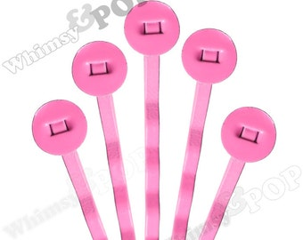25 PACK - Bobby Pins, Pink Lemonade Bobby Pin Blanks, Painted Bobby Pins, Color Bobby Pins, Bobbie Pins, 50mm wide, 7mm Glue Pad (R7-150)