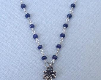 Prickle Necklace - Sapphire