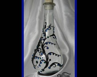 Vintage Flask, OOAK, Faerie Flask, Elven-Nouveau Flask, by Elstwhen.