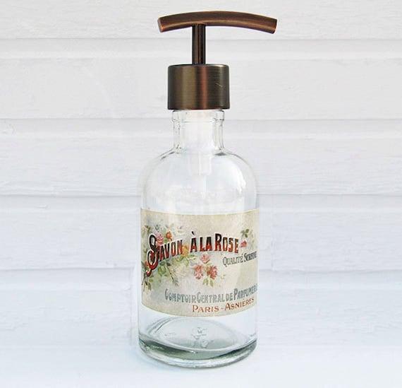 Hand Soap Dispenser Glass Soap Dispenser Bottle Paris
