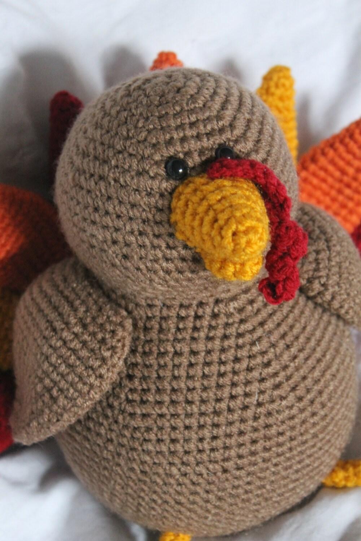 Free Turkey Amigurumi Pattern : Theodore the turkey amigurumi plush crochet pattern only