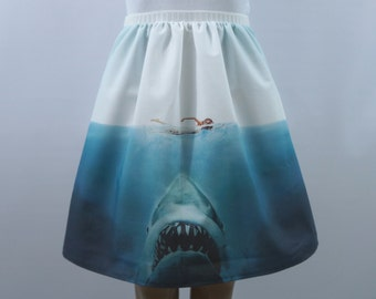 Beware of Sharks! full skirt- made to order