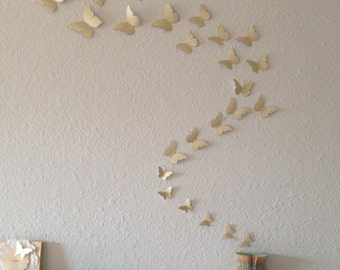 3D Glitter Butterfly Wall Art.  7 Colors To Choose From.