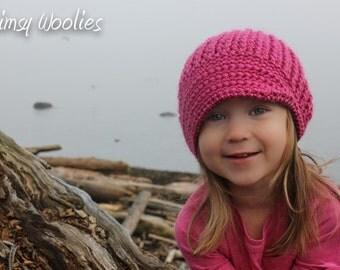 Crochet HaT Pattern: 'Vintage Twist Unfolded',  0-3mo, 6-12mo, Toddler, Children, Women