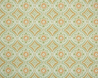 Vintage Wallpaper by the Yard 70s Retro Wallpaper - 1970s Orange Yellow and Green Geometric