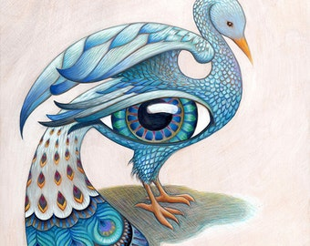 Beautiful Surreal Eye-Bird Series - fantasy / dream-like / psychedelic art prints