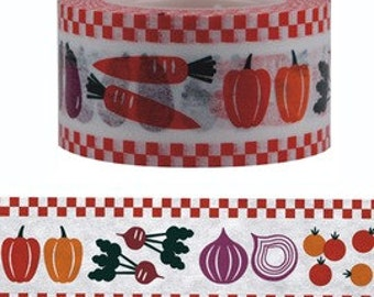 Vegetable Washi Tape (25mm X 15M)