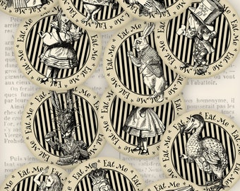 Alice in Wonderland Cupcake Toppers - VD0732