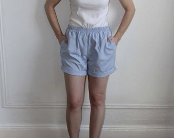 Lands End Baby Blue Cotton Shorts - M /L