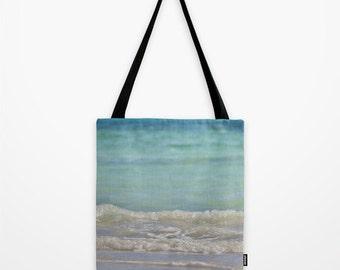 Beach Bag, Ocean Waves, Summer Shoulder Tote