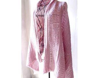 Crochet PATTERN - Rose Star Lace Shawl