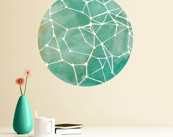 Teal Constellations Wall Decal - Astronomy Art by Elise Mahan