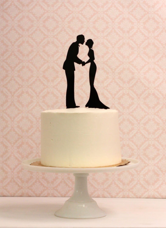 Silhouette Wedding Cake Topper Silhouette Cake Topper Made