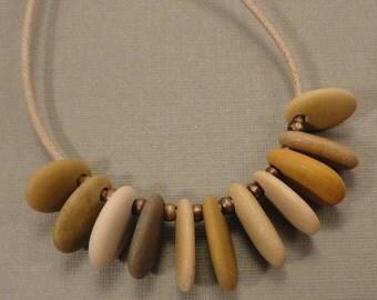 Mediterranean Beach Pebble Necklace