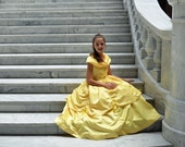 Princess Belle Costume Dress, Beauty and the Beast
