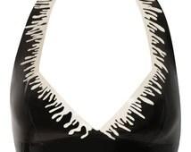 ONYX Halter-neck Latex Top