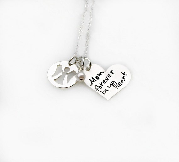 Hand Stamped Jewelry - Memorial Necklace - Remembrance Necklace - Angel Necklace - Personalized Jewelry