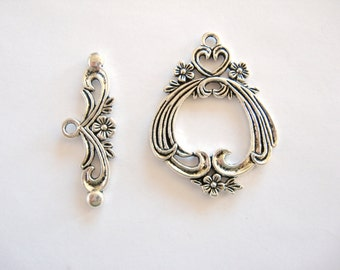 Gorgeous Large Flower Toggle Clasp  for your jewelry projects.