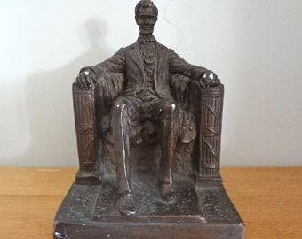 Vintage Mid Century Abraham Lincoln Memorial Sculpture by Austin Production Inc. 1962 - Great Piece!
