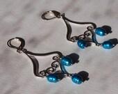 Electric Blue Boho Earrings