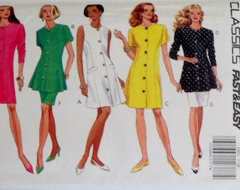 Uncut Vintage Dress, Top & Skirt Pattern Bust 40-44 Butterick 5903 Peplum