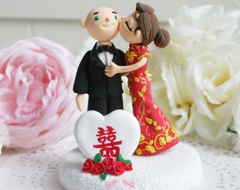 Custom Cake Topper- Double happiness