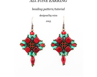 Alcyone Earring - Beading Pattern/Tutorial - PDF file personal use only