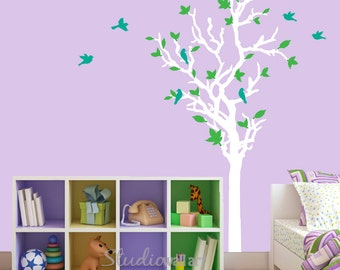 Tree with Birds Reusable Wall Decals