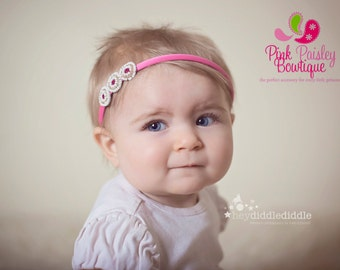 Toddler Headband - Toddler Hair Accessories - Girl Headband - Baby Girl Headbands - Baby Hairbows - Toddler Hair Bows
