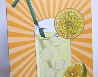 When Life Gives You Lemons, Make Lemonade Blank Uplifting Greeting Card