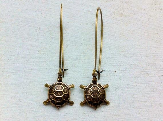 Sea Turtle Earrings/Turtle Earrings/Beach Wedding Earrings/Gifts for Her