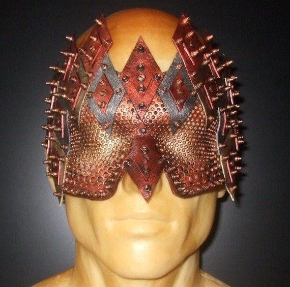 Steampunk Harlequin Leather Mask 11.0