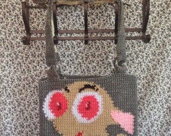 Ren Hoek Tapestry Crochet Tote Bag/ Ready to Ship/ One of a Kind