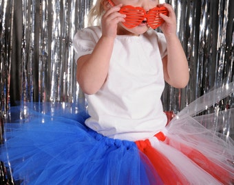 4th of July Tutu:  American Flag Toddler Tutu - Red, White, & Blue Patriotic Tutu