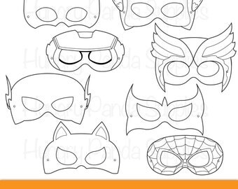 Australian Animals Printable Coloring Masks By