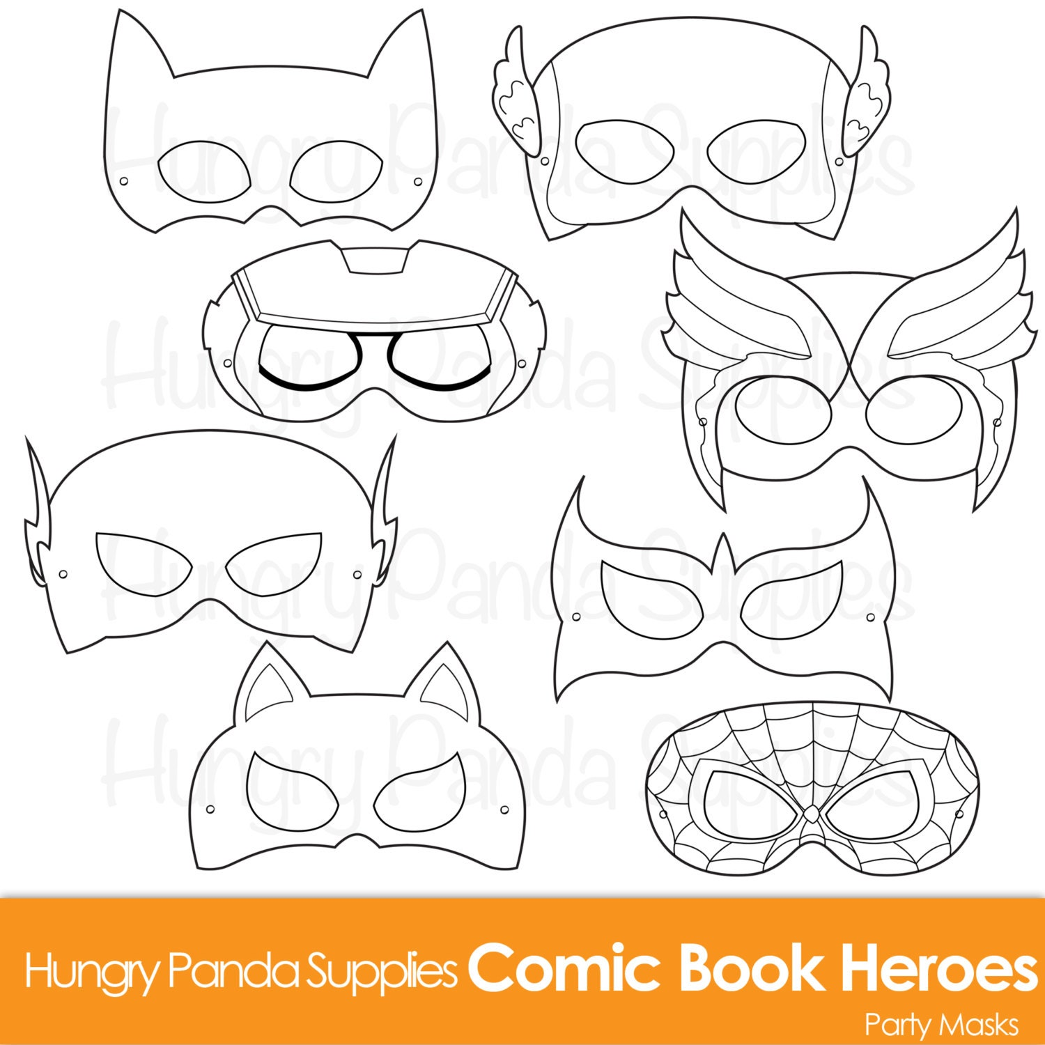 Transformative image throughout free printable superhero masks
