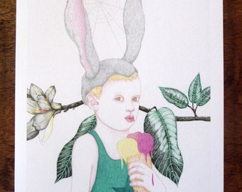 Léon Sunny child, limited and signed print
