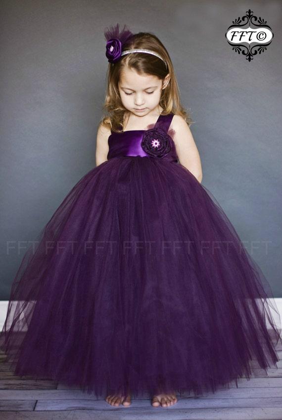 PLUM FLOWER GIRL DRESSES - Sanmaz Kones