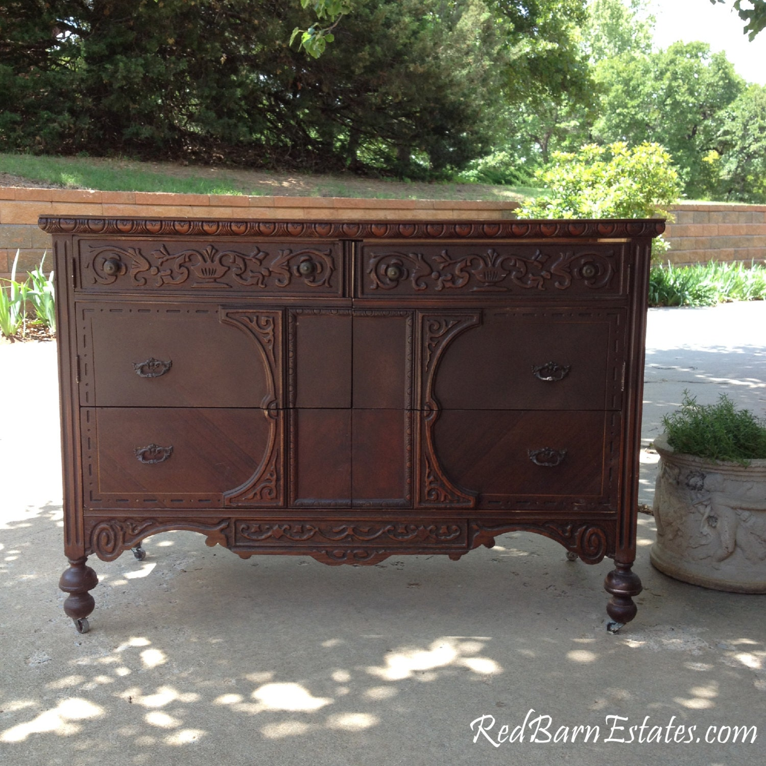 Antique DRESSER CONVERTED to VANITY Ready To Paint Add Own