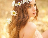 Daisy Floral Crown-created with wild daisies