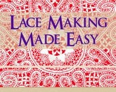 LACE MAKING Made Easy Fancy Stitches Illustrated The Art of Making Lace Lessons For Lace Makers