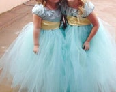Tulle Flower Girl Dress with Sash & Flower