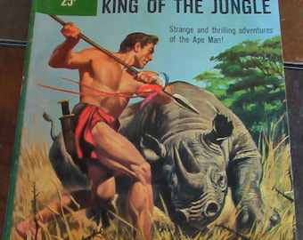 Vintage Tarzan King of The Jungle Comic Book Number 37 1960 Dell Publishing Co