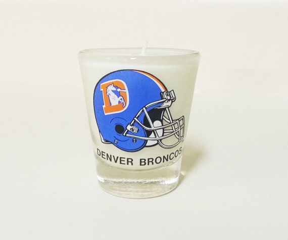 Denver Shooting Thornton: Denver Broncos Candle Soy Shot Glass Candle CHOICE OF