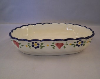 ADDITIONAL 10% OFF...SALE  Vintage Large Soap Dish from Portugal Numbered