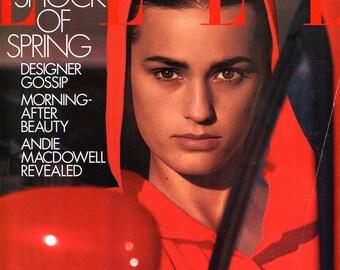 February 1991 - Elle Magazine - Yasmin -1990s Fashion