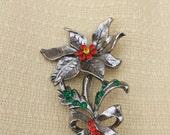 Beatrix 1960s Poinsettia Brooch