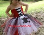 Pirate girls tutu dress costume