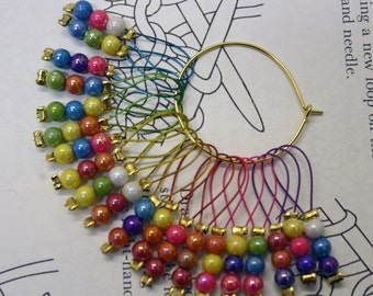 20 knitting stitch markers mini trios
