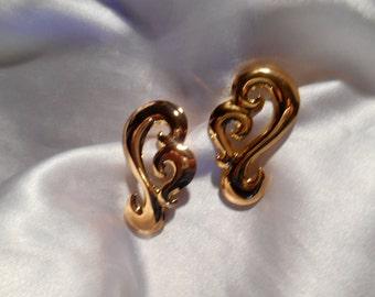 Avon Golden Hues Pierced Earrings